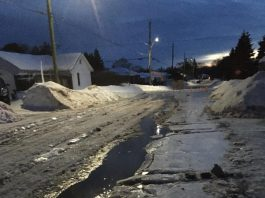 Water Main Break on Otto Street - January 21 2020 - Photo NetNewsLedger Newshawk