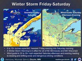 Winter storm Miinnesota Jan 16 2020