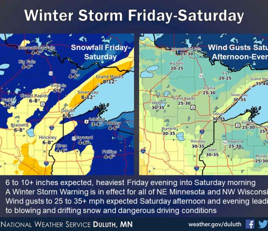 Winter storm Miinnesota Jan 16 2020