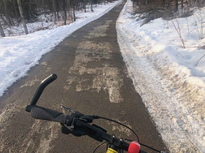 Winter biking on the network of trails is a great way to get around our city.