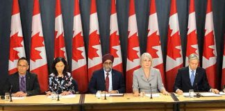 "Minister of Health Patty Hajdu says, ""oday, Minister François-Philippe Champagne, Minister Harjit Sajjan, and I updated Canadians on novel coronavirus and our efforts to bring back our fellow Canadians from affected areas in China."""