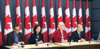 Canada's Minister of Health Patty Hajdu at briefing on February 6, 2020 in Ottawa