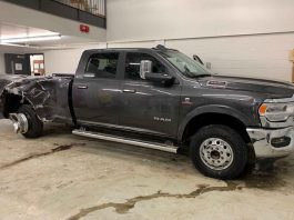 OPP image of damaged truck