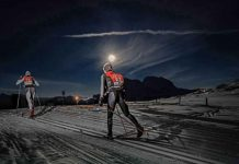 Giandomenico Salvadori (ITA) and Justyna Kowalczyk (POL) took the honours in Italy's most atmospheric cross-country skiing event: the South Tyrol Moonlight Classic