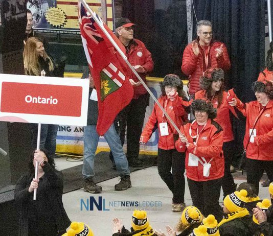 Team Ontario enters the Fort William Gardens for the Opening Ceremonies of the 2020 Special Olympics