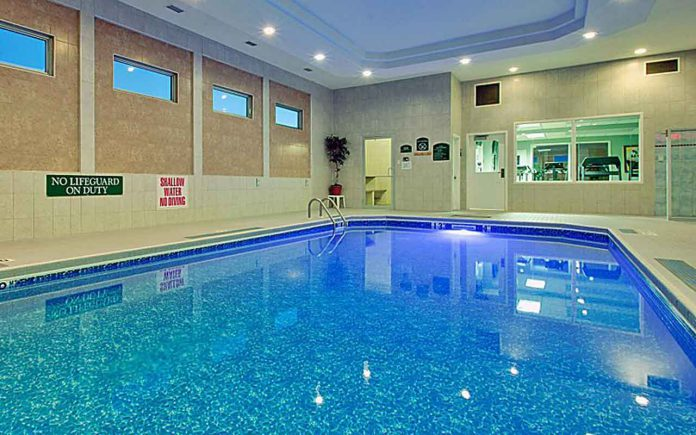 Swimming Pool at Holiday Inn Express in Dryden