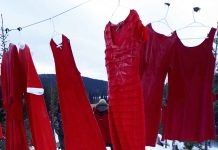 Red Dresses to remember MMIWG