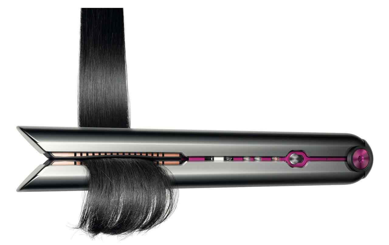 Dyson Flexing Plates: Patented precision engineered, flexing plates made from manganese copper alloy with 15 micro-hinged segments that flex and adapt to the hair, reducing frizz and flyaways