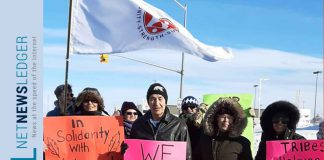 A peaceful demonstration was held in Timmins, Saturday, February 29