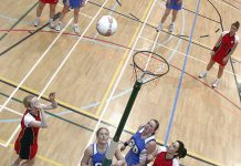 More details Inter-county netball game: Orkney (red) vs Shetland 'A' (blue) - Image Wikipedia