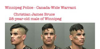 Christian James Bruce, a 28-year-old male of Winnipeg