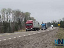 Trucks on Northern Ontario Highway