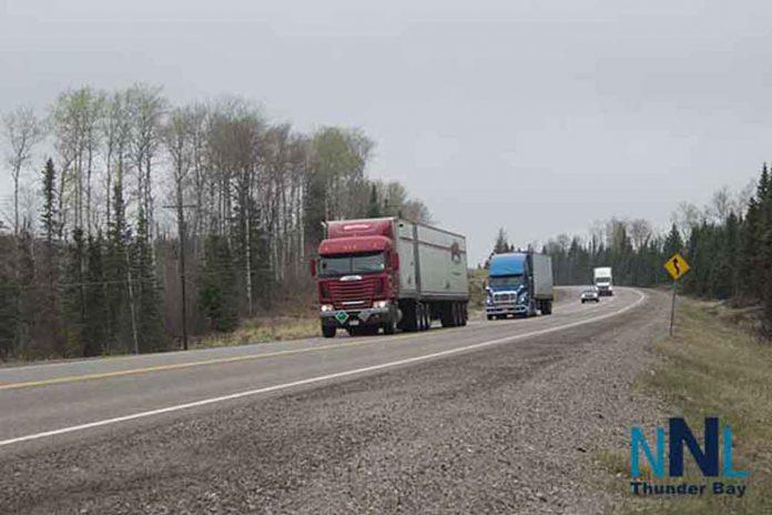 Trucks on Northern Ontario Highway