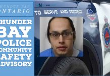 Community Safety Advisory – High Risk Offender residing in Thunder Bay