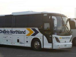 Ontario Northland Transportation bus in Thunder Bay