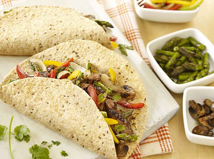 Image: Sizzling Beef and Asparagus Fajitas - Foodland Ontario