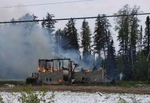 Fire Destroys Home in Muskrat Dam - Image Facebook