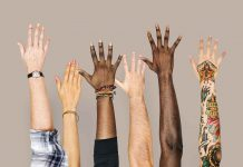 Opinion - Diversity hands raised up gesture