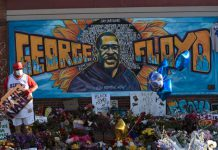 General view of George Floyd's memorial site during the first morning after all four officers involved have been criminally charged in Floyd's death following over a week of nation-wide protests in Minneapolis, Minnesota, U.S. June 4, 2020. REUTERS/Nicholas Pfosi