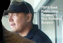 Image of Copperfin Credit Union ATM Robbery Suspect - TBPS Media Handout