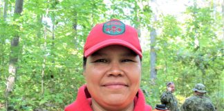 Master Corporal Pamela Chookomoolin found the missing woman. credit Sergeant Peter Moon, Canadian Rangers