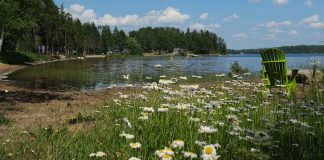 The Beach at Northwestern Ontario's Quetico Centre