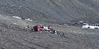 Image: Randy Cusack - Accident Scene near Athabaska Glacier on Columbia Icefields