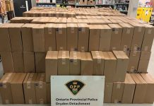 Image: Dryen OPP - $1.6 million in seized tobacco