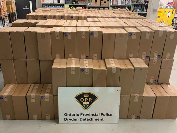 Image: Dryen OPP - $1.6 million in seized tobacco