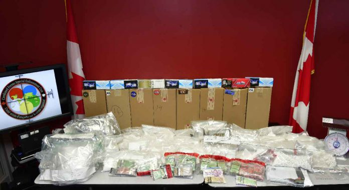 Cocaine, Fentanyl and other drugs and contraband tobacco seized in joint task force drug raids