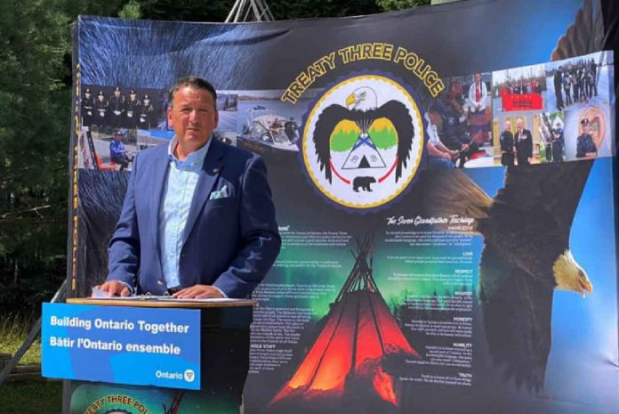Minister Rickford announced $300k for Treaty Three Police