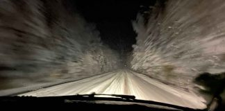 Highway 588 Early this Morning - Drive safe