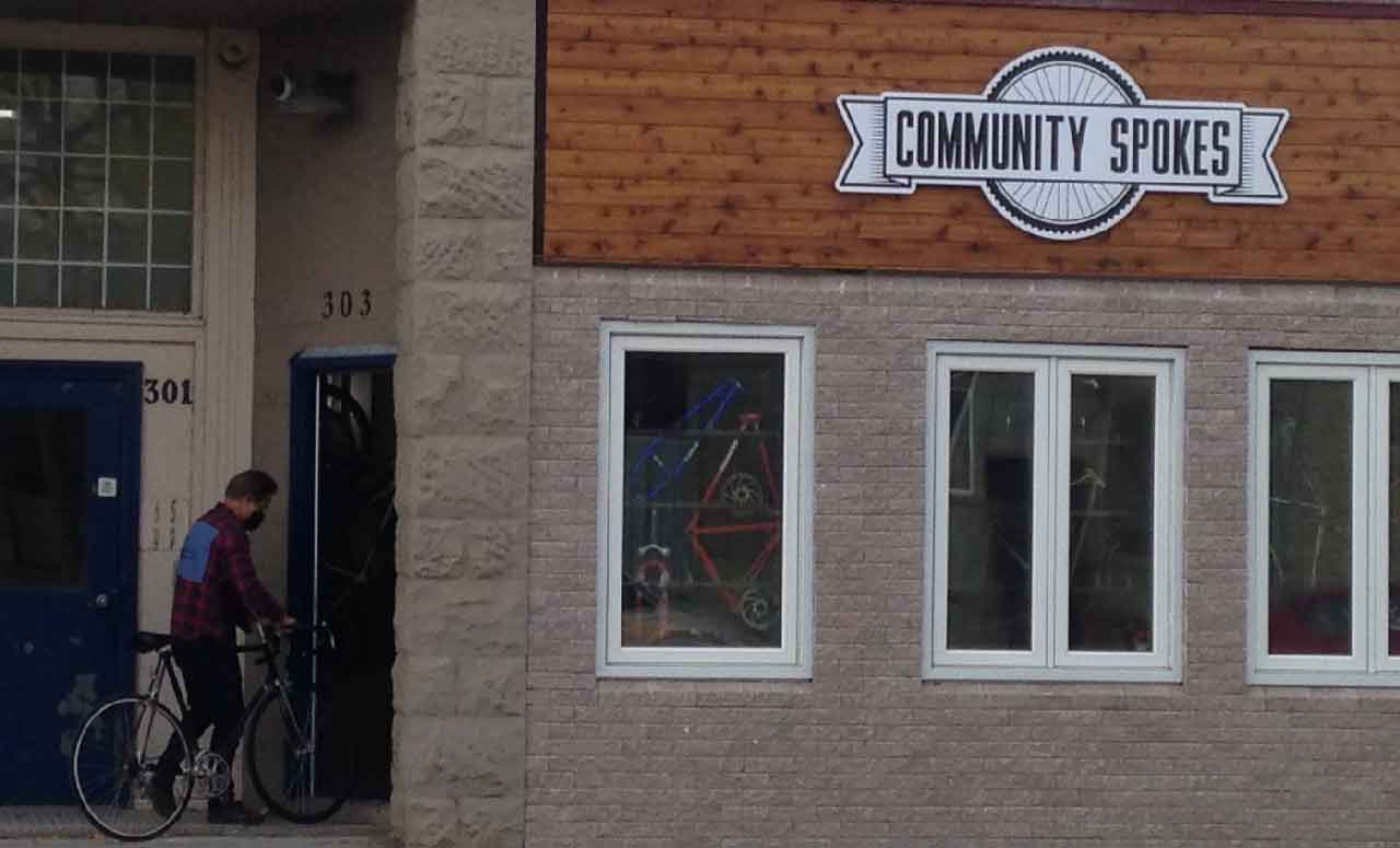 Community Spokes is located at 303 Simpson Street