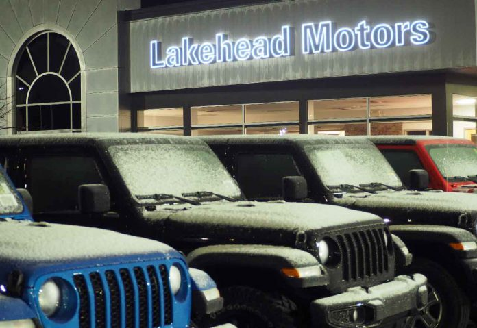 Frost on the Jeeps at Lakehead Motors