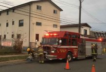 TBFR on scene at Wilson Street Fire