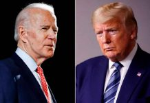Democrat Joe Biden and Republican Donald Trump