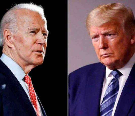 Democrat Joe Biden and Republican Donald Trump