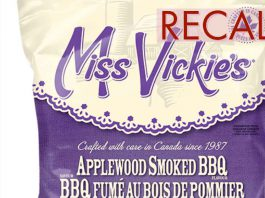 Miss Vickie's Chips Recall