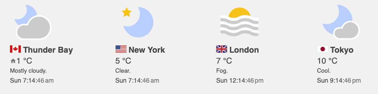 Weather November 29 2020