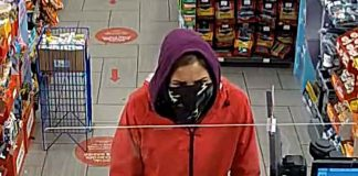 Thunder Bay Police supplied image of Circle K robbery Suspect