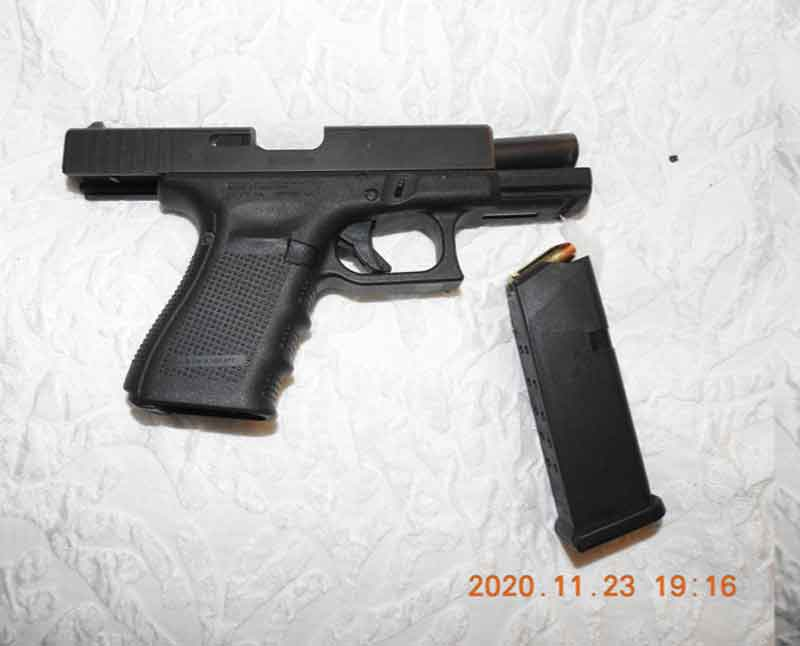 TBPS Image of Seized Handguns