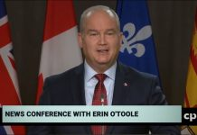 Conservative Leader Erin O'Toole