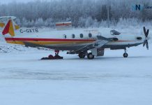 "North Star Air Pilatus ""Blackfly 704"" in Pikangikum First Nation"