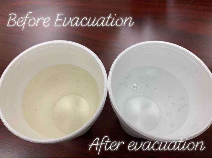Neskantaga FN Water, before evacuation and after evacuation .. you see it's not impossible to get clean water .. there's just a lack of will - Neskantaga Chief Moonias