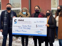 Semple Enterprises donates $10k to Shelter House