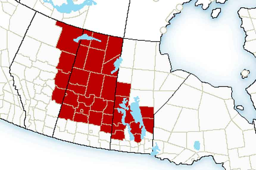 Extreme Cold Alerts for Saskatchewan and Manitoba - January 25, 2021