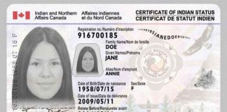 Indigenous Status Card