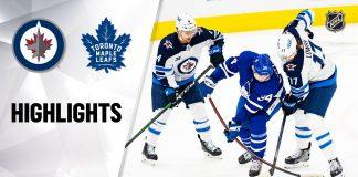 Jets Leafs NHL Highlights