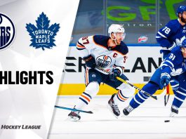Oilers vs Leafs in NHL Action