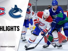 Canadiens vs Canucks in NHL Action